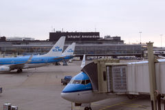 L'aéroport Schiphol Amsterdam Photo libre de droits