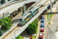 L'aéroport Skytrain de Changi à l'aéroport de Singapour Changi, Singapour Ouvert en 1990, c'était le premier système automatique- Photos stock