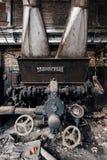 L'abbandonato Westinghouse sottoalimenta l'alimentatore - vecchia distilleria abbandonata del corvo - il Kentucky fotografia stock libera da diritti