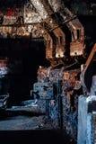 L'abbandonato Westinghouse sottoalimenta gli alimentatori - vecchia distilleria abbandonata del corvo - il Kentucky fotografia stock libera da diritti