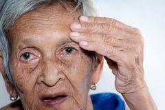 L'abbattimento del ` s della donna anziana solo demenza e malattia di Alzheimer?s fotografie stock libere da diritti