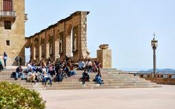 L'abbaye bénédictine de Santa Maria de Montserrat l'espagne photographie stock libre de droits