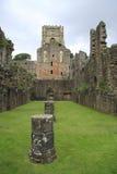 L'abbaye de fontaines reste Images stock