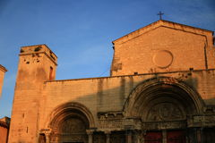 L'abbaye de Saint-Gilles, France images stock