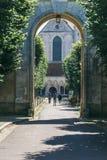 L abbaye Pontigny Francia del ` Imágenes de archivo libres de regalías
