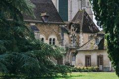 L abbaye Pontigny Francia del ` Fotografía de archivo libre de regalías