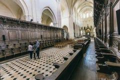 L abbaye Pontigny Francia del ` Foto de archivo libre de regalías