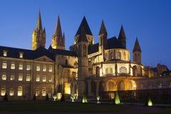 L'Abbaye-Zusatz-Hommes, Kirche von St. Etienne, Caen Stockbilder