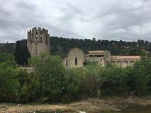 L'abbazia di Carcassonne Fotografia Stock Libera da Diritti