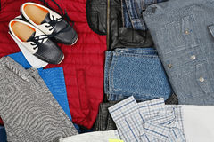 L'abbigliamento dei ragazzi Fotografia Stock Libera da Diritti
