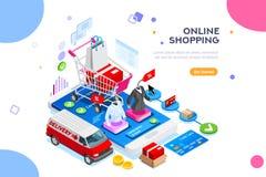 L'abbigliamento mobile app di ordine del sito Web pubblica facile royalty illustrazione gratis