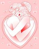 L'abbraccio di amore Fotografie Stock