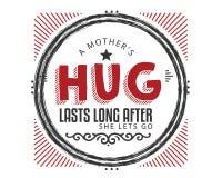 L'abbraccio di una madre dura lungo dopo che ha lasciato andare illustrazione vettoriale