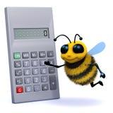l'abeille 3d calcule illustration libre de droits