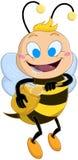 L'abeille radotante tient Honey Jar illustration stock