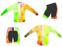 L'abito della bicicletta mette in mostra il vettore della maglietta Fotografia Stock
