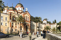 L'Abkhazia Nuovo Athos Fotografia Stock Libera da Diritti