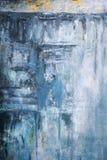L'abrégé sur bleu fond d'art a affligé la texture foncée antique de fond Photographie stock libre de droits