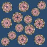 L'abrégé sur fleur de vecteur ornemente la broderie Image libre de droits