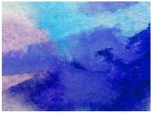 L'abrégé sur fond d'art d'aquarelle a donné à des nuages une consistance rugueuse d'air de ciel Images stock