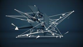 L'abrégé sur futuriste 3D construction rendent Images libres de droits