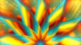 L'abrégé sur multicolore le monde des stars 4k tient le premier rôle la boucle visuelle @60fps de fond illustration stock