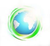 L'abrégé sur vert 3d eco rendent Éléments de ce b meublé par image Photo stock