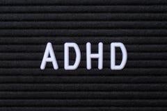 L'abréviation ADHD photographie stock