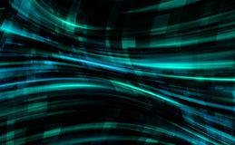 L'abstraction à l'intérieur du monde de ligne numérique, fond d'informatique avec la grille, 3d rendent le contexte, ordinateur illustration libre de droits