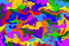 L'abstraction courbe le modèle de taches pie Image libre de droits