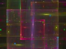 L'abstraction de fractale, futur fond coloré de chaos de puissance d'imagination d'ornement de style artistique de la science, be illustration de vecteur