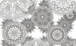 l'abstraction, dentelle, ornementent les cercles à jour