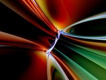 l'abstrait 3d vert rouge noir rendent le fond Image stock