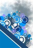 L'abstrait bleu entoure le fond Image libre de droits