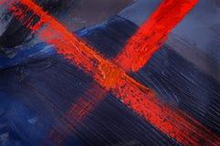 L'abstrait bleu a peint Photo stock