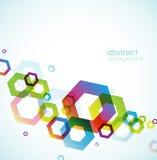 L'abstrait a coloré le fond avec des cercles. Image libre de droits