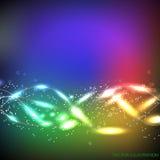 L'abstrait coloré ondule le fond Illustration de vecteur avec différentes couleurs illustration libre de droits