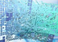L'abstrait cube le fond Photographie stock libre de droits