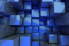L'abstrait cube le fond illustration stock