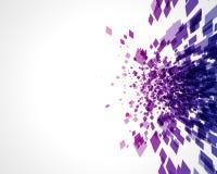 L'abstrait explorent la mosaïque carrée Image libre de droits