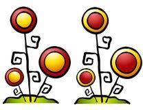 L'abstrait fleurit le clipart (images graphiques) illustration stock