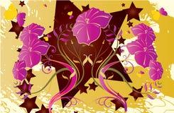 L'abstrait fleurit le fond Image stock