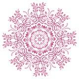 L'abstrait fleurit le mandala illustration stock