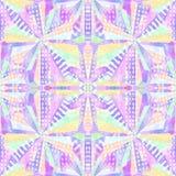 L'abstrait forme la configuration sans joint Répétez le fond psychédélique géométrique de mosaïque Effet de kaléidoscope Images libres de droits