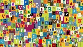 L'abstrait marque avec des lettres le fond Photo libre de droits