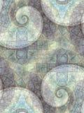 L'abstrait modèle des spirales grises Photos libres de droits