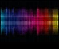 L'abstrait multicolore allume le fond de disco illustration de vecteur