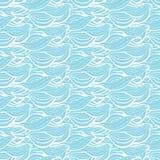 L'abstrait ondule la configuration sans joint Lignes onduleuses de texture tirée par la main décorative de mer ou d'océan Fond de illustration de vecteur