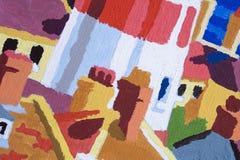 L'abstrait peint le fond Photos stock