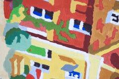 L'abstrait peint le fond Images stock